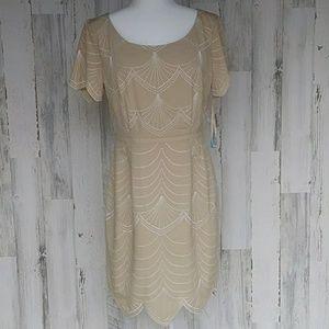 ANTONIO MELANI Dresses - Antonio Menlani Keaton Dress W/ Scallop Bottom NWT